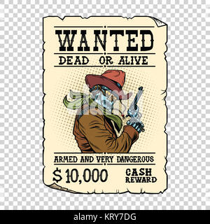 Retrò poster occidentale · Armati con il robot cowboy. Steampunk retrò  annuncio Foto Stock 315586771e4e
