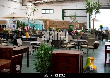 Un negozio mobili interni, Lanzarote, Isole Canarie, Spagna. Foto Stock