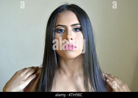 Venezuelano Brunette girl. Foto Stock