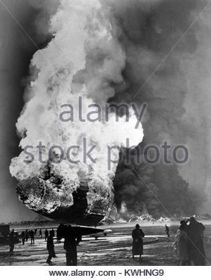 HINDENBURG DISASTER 6 maggio 1937. Passeggeri tedeschi dirigibile LZ 129 Foto Stock