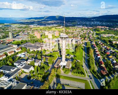 Tyholt Tv Antenna Torre Vista Panoramica Di Trondheim Trondheim è