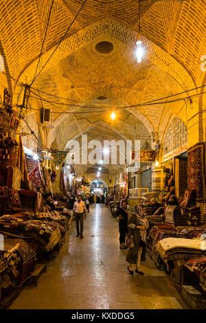 Bazar-e Vakil o Vakil Bazaar,Shiraz,Iran Foto Stock