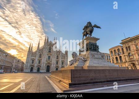 Il Duomo di Milano (Milano Duomo) quando sunrise, Milano (Milano), Italia