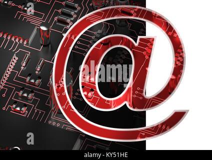 Immagine composita di a livello di e-mail simbolo Foto Stock