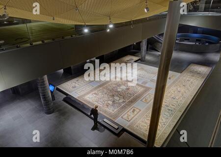 Francia,Parigi,zona elencata come patrimonio mondiale dall UNESCO,museo Louvre,islamica dipartimento arti,pavimentazione Foto Stock