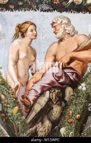 Italia Lazio, Roma, centro storico elencati come patrimonio mondiale dall' UNESCO, Villa Farnesina, affresco di Foto Stock