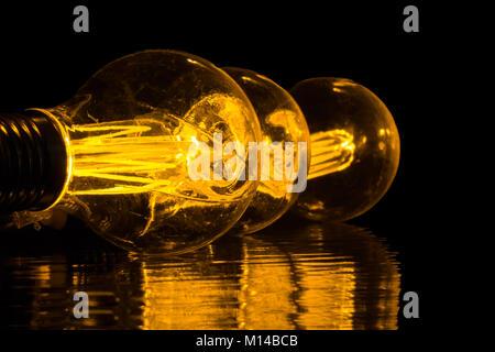 Vintage lampadine Foto Stock