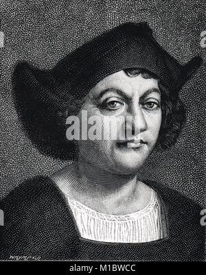 Cristoforo Colombo, 1451-1506 Foto Stock