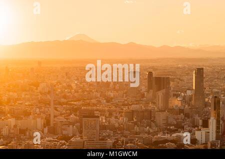 Tokyo Vista tramonto Foto Stock
