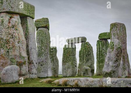 Stonehenge, Wiltshire, Inghilterra Foto Stock