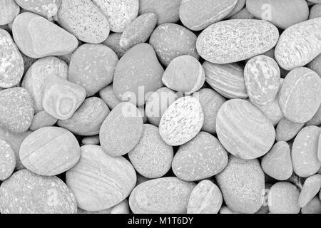 Abstract sfondo naturale di bianco e nero con pietre ghiaia