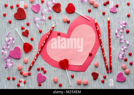 Bianco rosa scheda carta per san valentino o la madre - Colore del giorno di san valentino ...