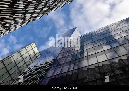 Un astratto, insolito o diversi dal punto di vista dei più Londra posto nel centro di Londra. Moderno e Contemporaneo e di edifici di architettura in città.