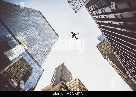 New York City vista degli edifici Foto Stock