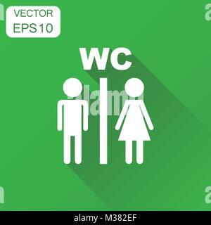 Wc Wc Piastra Porta Icon Set Gli Uomini E Le Donne Wc Segno Per
