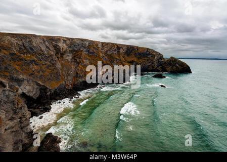 Regno Unito cliff coast cornwall adottate nel 2015 Foto Stock