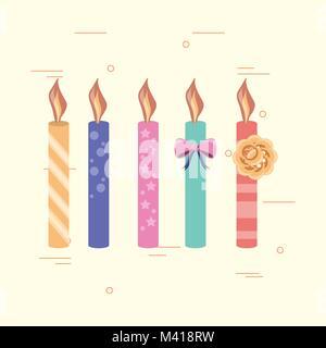 Buon compleanno design Foto Stock