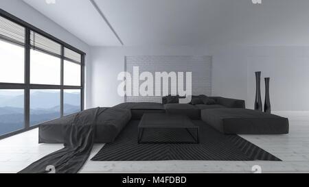 Divani Bianchi E Neri : Divani bianchi e in bianco e nero di tappeti per un soggiorno