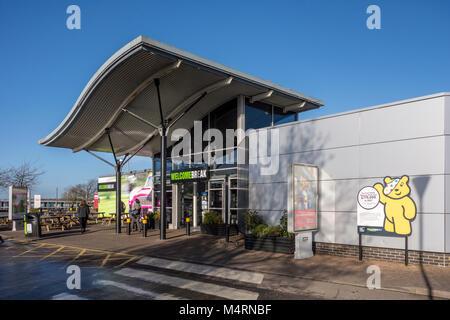 Welcome Break servizi autostradali sulla M1 Newport Pagnell, Regno Unito
