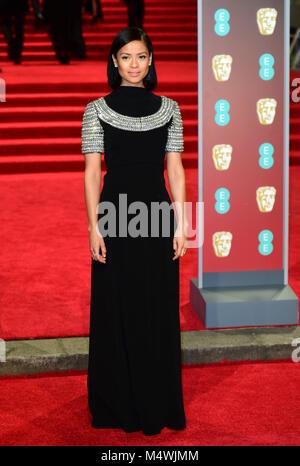 Gugu Mbatha-Raw frequentando l'EE British Academy Film Awards tenutosi presso la Royal Albert Hall, Kensington Gore, Kensington, Londra.