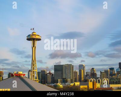 Lo Space Needle torre di osservazione, Seattle Foto Stock