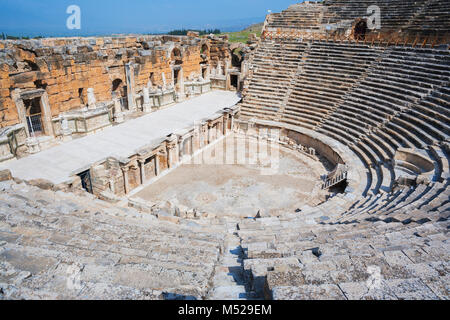 Anfiteatro romano,Hierapolis,Pamukkale,Denizli,l'Anatolia,Turchia Foto Stock