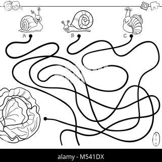 Lumaca Mollusco Cartoon Per Libro Da Colorare Foto Immagine Stock