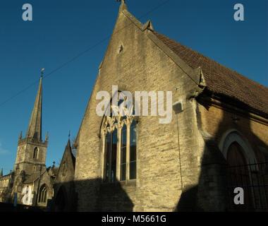 La Chiesa di San Giovanni Battista, di Frome, Somerset. Foto Stock