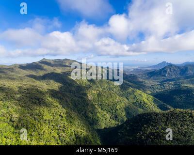 Maurizio, Black River Gorges National Park, Vista Aerea Foto Stock