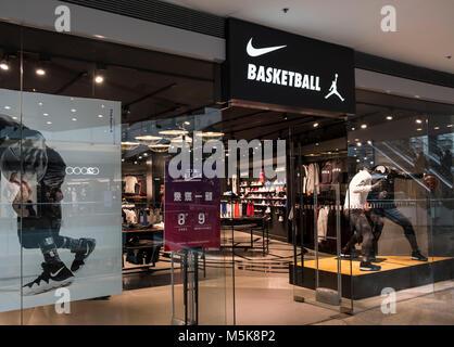 Hong Kong, Aprile 7, 2019: scarpe Nike in negozio Foto