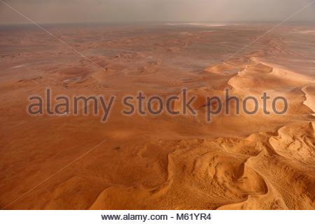 Un' antenna delle dune di sabbia rossa del deserto del Namib. Foto Stock