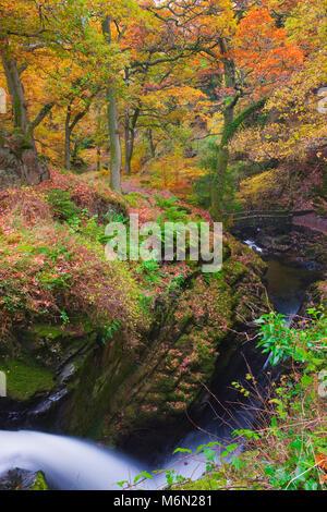 Aira Force Ullswater Lake District Cumbria Inghilterra England Foto Stock