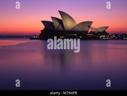 Umore shot della Opera House di Sydney, Nuovo Galles del Sud, Australia Foto Stock