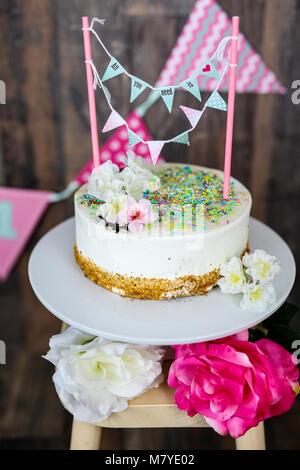 Torta smash Foto Stock