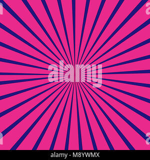 Blu e rosa raggi sfondo pattern Foto Stock