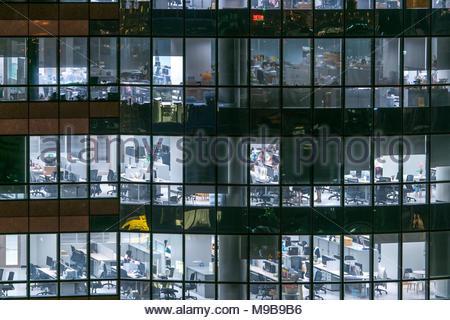 Finestre di Business Office Foto Stock