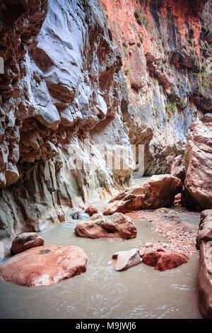 Saklikent Canyon pareti di montagna e rocce, Turchia Foto Stock