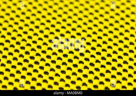 Close up dettaglio del giallo tappetino antiscivolo Foto Stock