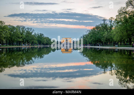 Lincoln Memorial Washington DC Foto Stock