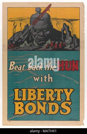 Battere nuovamente il Hun con legami Liberty Poster Foto Stock