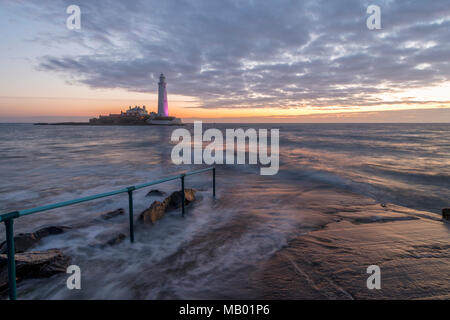 St Mary's Faro in Tyne and Wear. Foto Stock