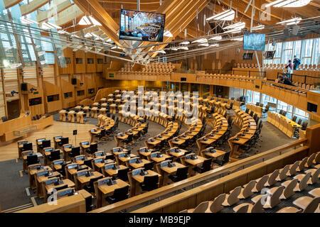 Organizzazione Interna Della Camera : Vista interna della camera di discussione al parlamento scozzese a