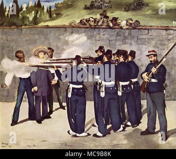 L'esecuzione dell'Imperatore Massimiliano, 1868 da Édouard Manet Foto Stock