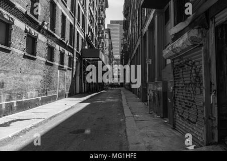 Cortlandt Alley, Manhattan New York, NY Foto Stock