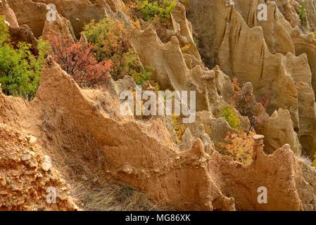 Piramidi di Stob, area di Rila, Bulgaria Foto Stock