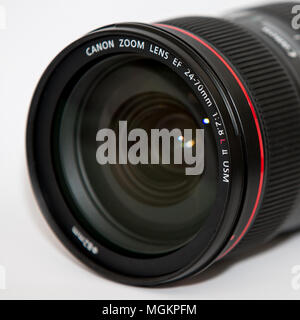 Canon EF 24-70mm f2.8L II USM, Canon lente 24-70, Canon obiettivo zoom Foto Stock