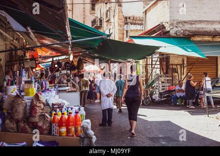 Palermo, Ballarò mercato, Sicilia, Italia Foto Stock