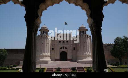 Alamgiri Gate di Lahore fort, Punjab Pakistan Foto Stock