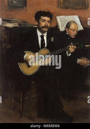 Due musicisti Foto Stock