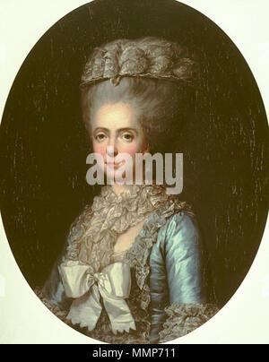 Inglese: ritratto della Principessa Marie Adélaïde della Francia (1732-1800), chiamato Madame Adelaide . 1780. Ritratto di Marie-Adelaide-Louisa de France, chiamato Madame Adelaide Foto Stock